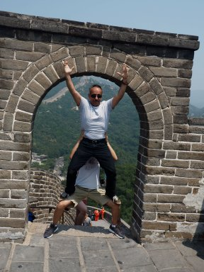Master Momenan at the Great Wall