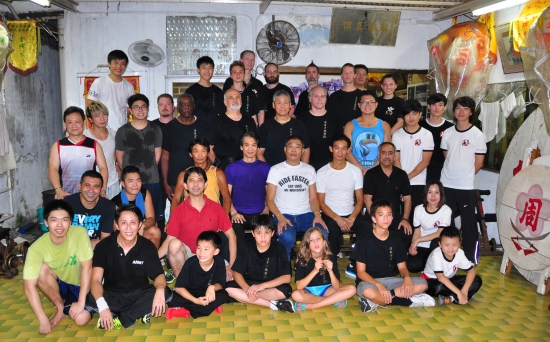 Group picture at Jow Ga school in Hong Kong