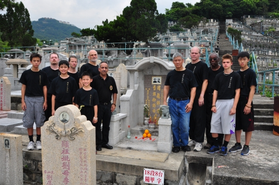 Picture at grave site of Jow Lung