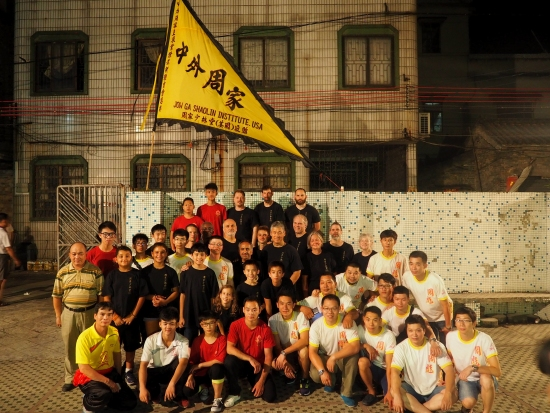 Group picture at Jow Ga school in Nanhai